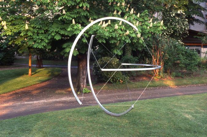 Patrick FLEURY, Sphère (2006) aluminium ø: 320cm