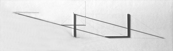 Patrick Fleury  Expansion Blanche (1999) acier, aluminium peint (1200 x 375 x 150cm)