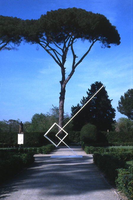 Patrick Fleury  Gravitation  (1993) acier, aluminium peint  (600 x 500 cm)