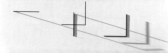 Patrick Fleury  Expansion Noire (1997) acier, aluminium peint (1200 x 375 x 150cm)