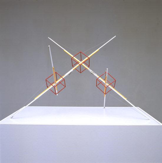 Patrick Fleury  Station 3C  (2002)  laiton peint  (89 x 64 x 53 cm)