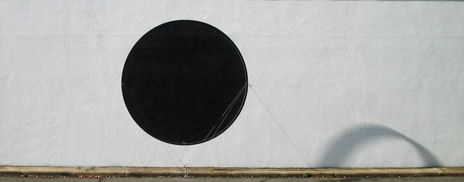 Patrick Fleury  Éclipse  (2001) œuvre murale (1200 x 375 x 100cm)