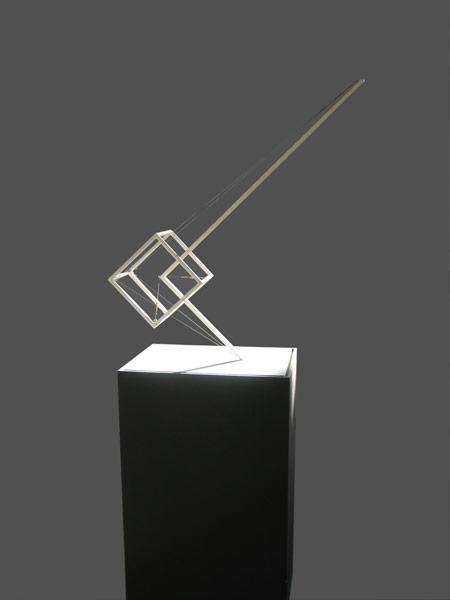 Patrick Fleury  Gravitation 2  (1993) acier peint  (100 x 80 x 80cm)