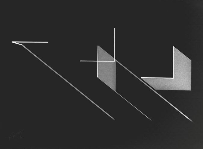 Patrick Fleury  Expansion blanche  (2003) sérigraphie (56 x 76cm, Arches 250gr.)