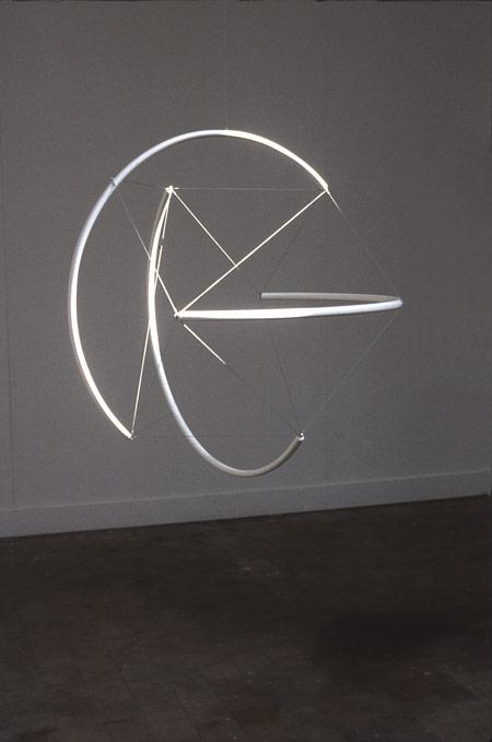 Patrick Fleury  Sphère  (2000) acier  peint  (Ø 100 cm)